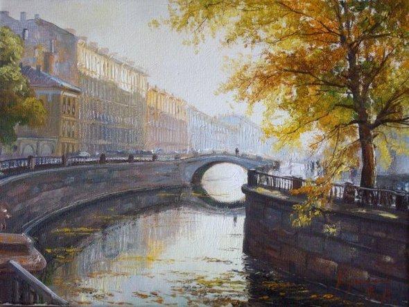 Осенние романтические места Петербурга