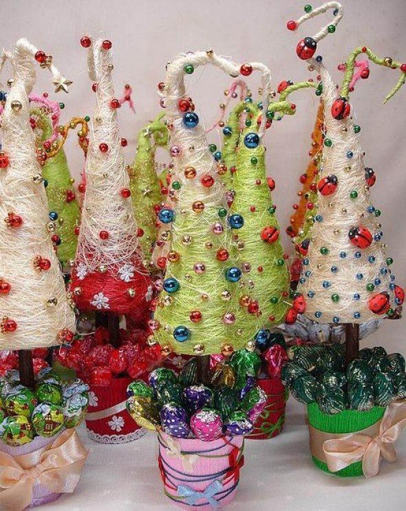 Новогодний мастер-класс Фантастические елки