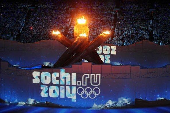 Церемония открытия Олимпийских игр Сочи 2014 в Ресторанчике Поморский...