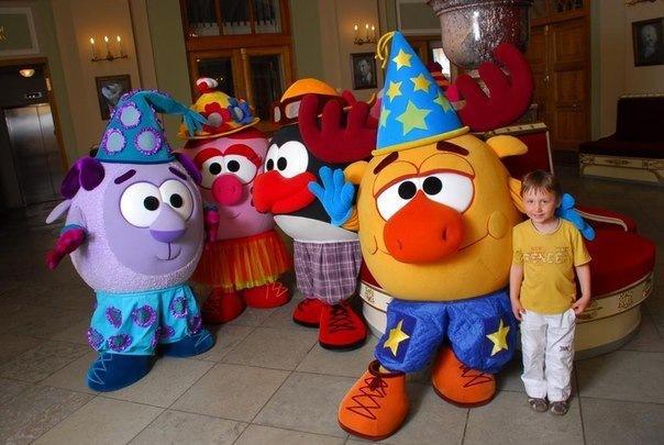 Детское шоу Смешарики на ярмарке Юнона