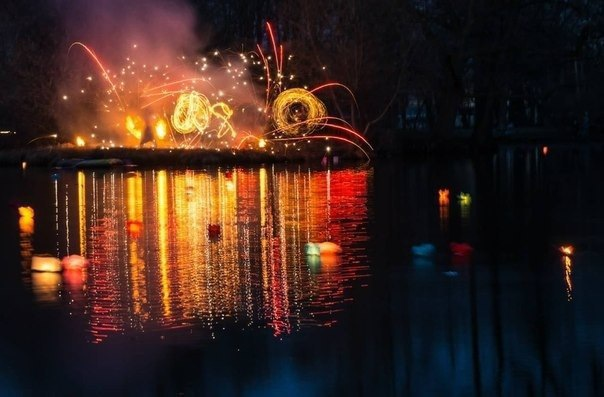 Золотая осень Петербурга - Запуск Водных фонариков