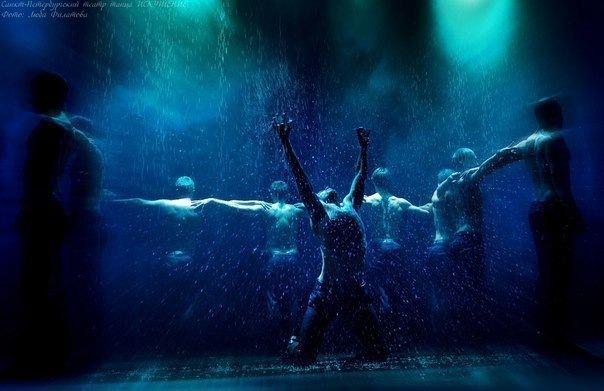 Шоу под дождем 2 Дышу тобой от Санкт-Петербургского театра танца Искушение....