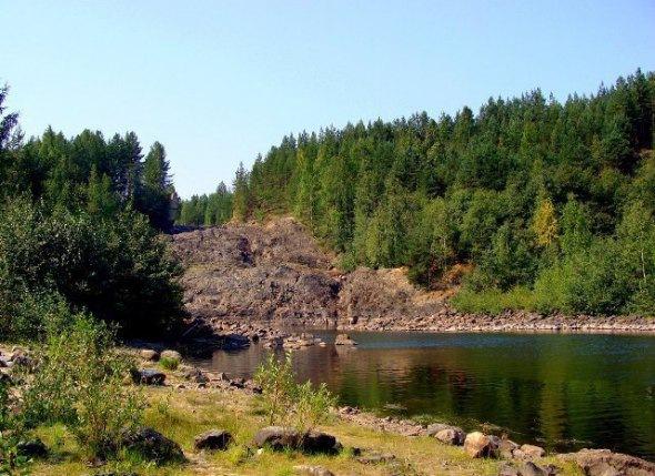 Древний вулкан в Карелии