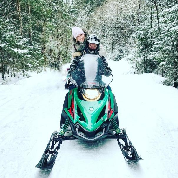 Маршрут по живописным лесным маршрутам на снегоходах и квароциклах