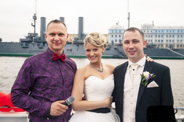 Свадьба летом в Петербурге.