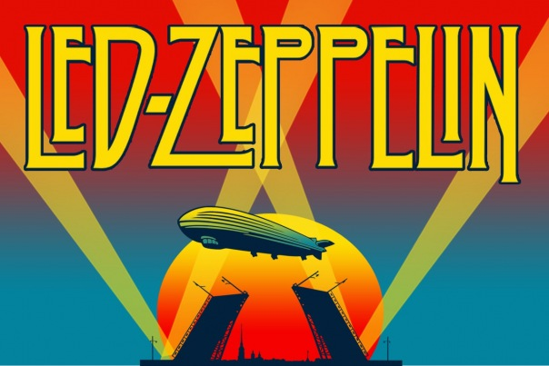Led Zeppelin на теплоходе, рок классика.