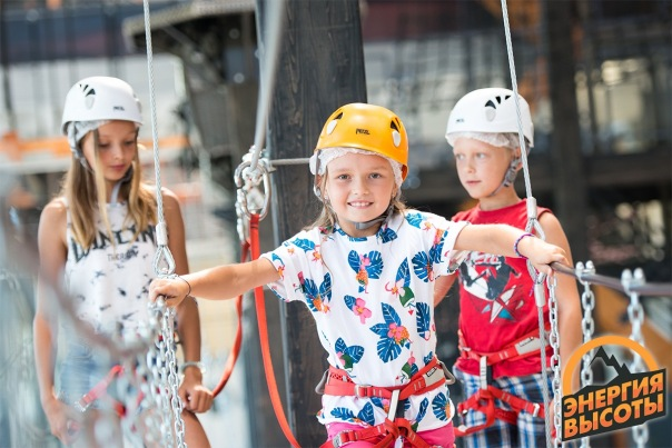 Новый крытый веревочный парк Энергия Высоты