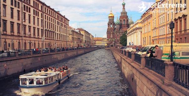 Прогулка на катере по рекам и каналам Петербурга в подарок