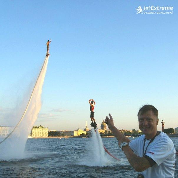 Полеты на флайборде в Санкт-Петербурге