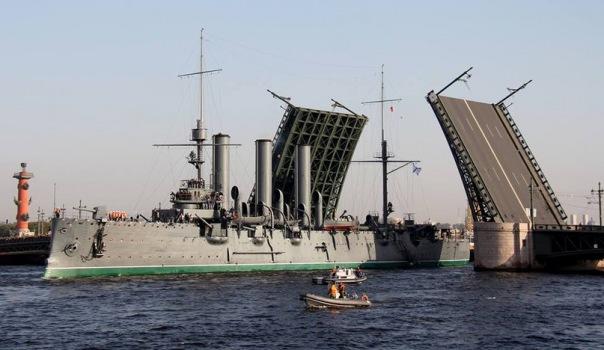 Видео отправления крейсера Аврора
