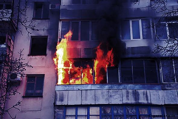 При пожаре на Бухарестской спасено 3 человека