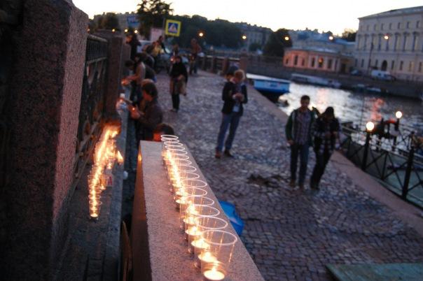 В Петербурге прошла акция Свеча памяти в честь годовщины прорыва блокады