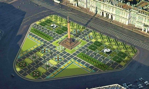 На Дворцовой площади появится пышный цветник