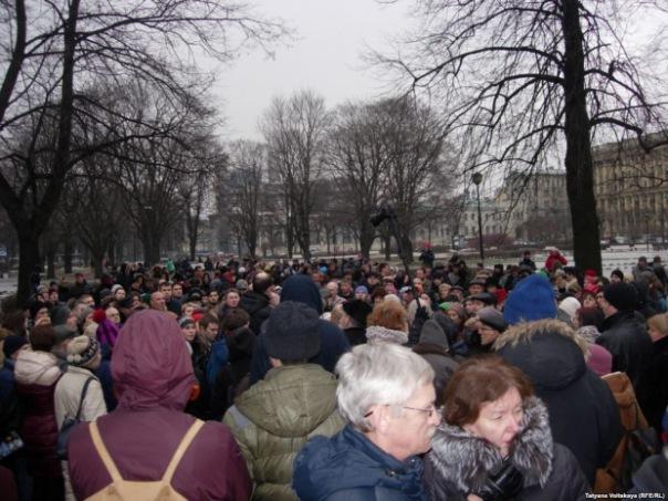 В Петербурге прошел марш памяти Бориса Немцова