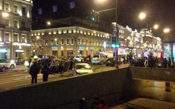 На Невском столкнулись пять автомобилей