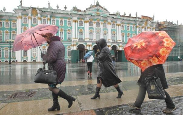 В выходные в Петербурге усилится ветер и пойдёт дождь