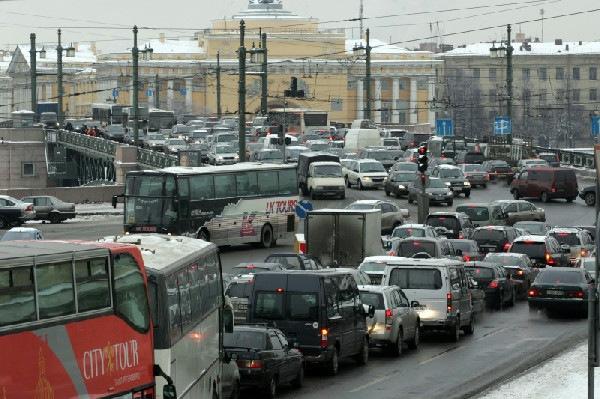 Пробки Петербурга и Москвы прославились на весь мир