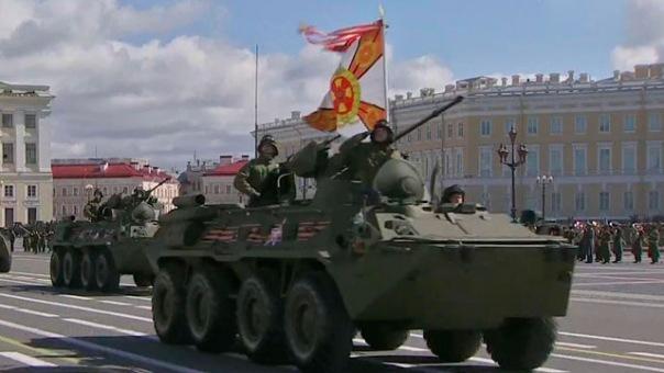 Cостоялась репетиция парада, посвящённого 70-летию Победы
