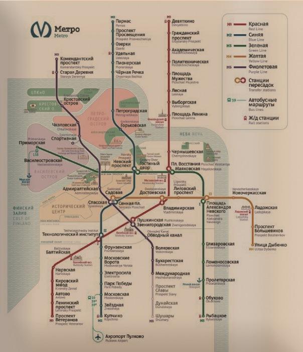 Студия Лебедева представила новую схему петербургского метро