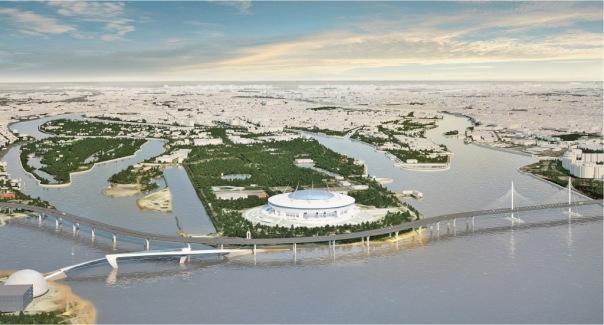 Полтавченко подписал договор на строительство пешеходного моста к Зенит-Арене