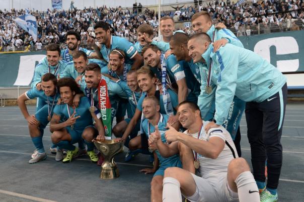 Футболисты Зенита в третий раз выиграли Суперкубок России