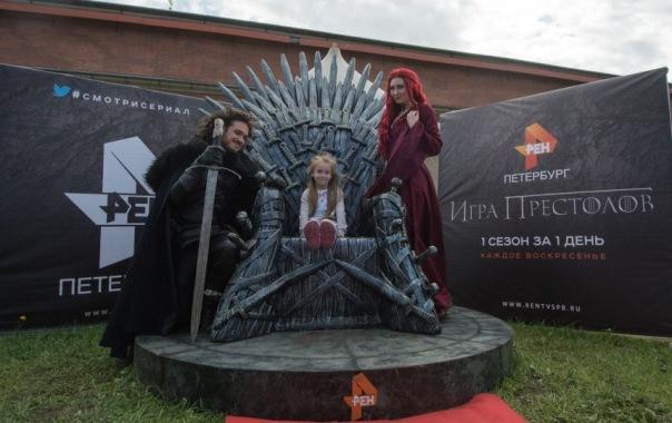 На фестивале Битва на Неве петербуржцам показали Железный трон
