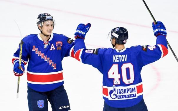 СКА разгромил Северсталь со счетом 7:3 на турнире в Санкт-Петербурге