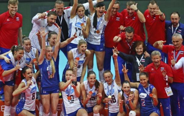 Российские волейболистки второй раз подряд выиграли чемпионат Европы