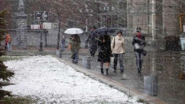 Жители Петербурга заметили первый снег