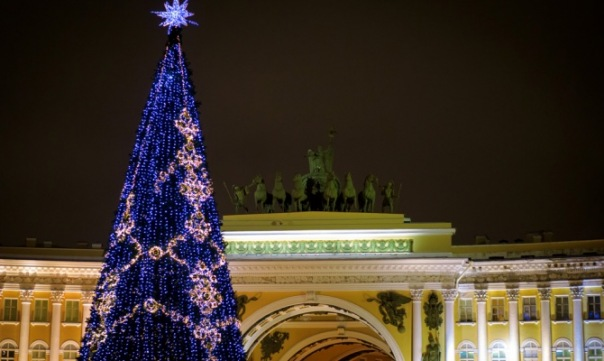 В Петербурге на Новый год установят 49 искусственных елей