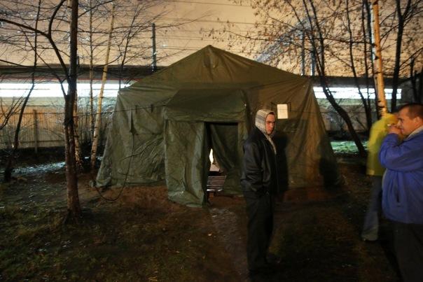 В Петербурге открылся первый пункт обогрева для бездомных