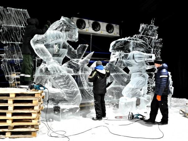 В Петропавловской крепости открывается фестиваль ледяных скульптур