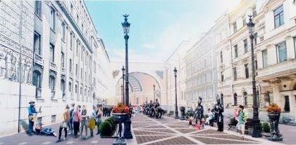 В Петербурге представили проекты пешеходной зоны на Большой Морской