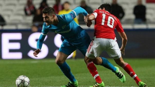 Зенит проиграл Бенфике со счетом 0:1