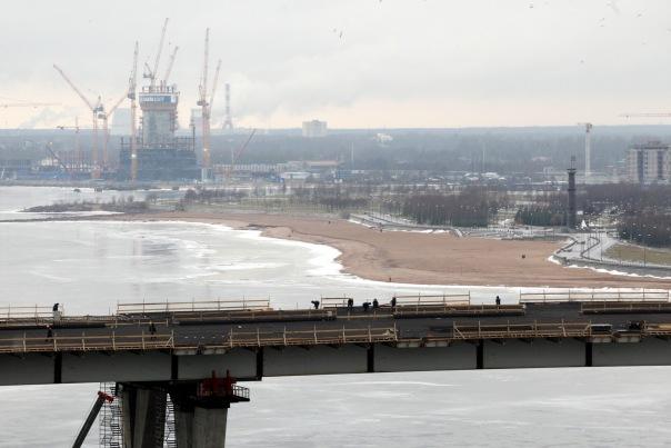 В Петербурге начали строить пешеходный Яхтенный мост