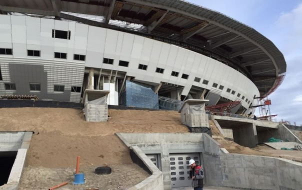 На стадионе Зенит-Арена завершён монтаж раздвижной кровли