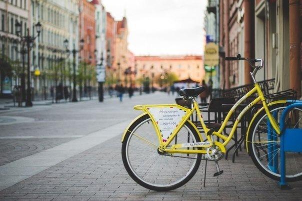 В Петербурге теперь есть бесплатные подвешенные велосипеды
