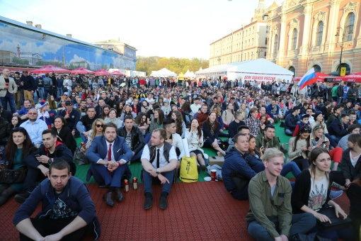 На Конюшенной площади открылась фан-зона Чемпионата мира по хоккею