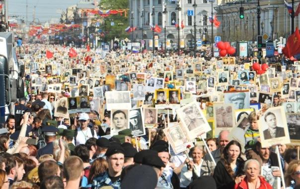 Бессмертный полк в Петербурге собрал полмиллиона человек