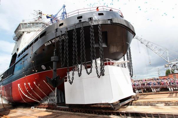 Первый за полвека ледокол ВМФ России Илья Муромец