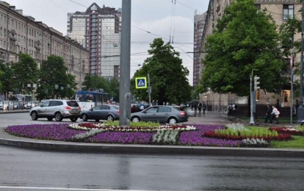 К Международному экономическому форуму Петербург украсили цветами
