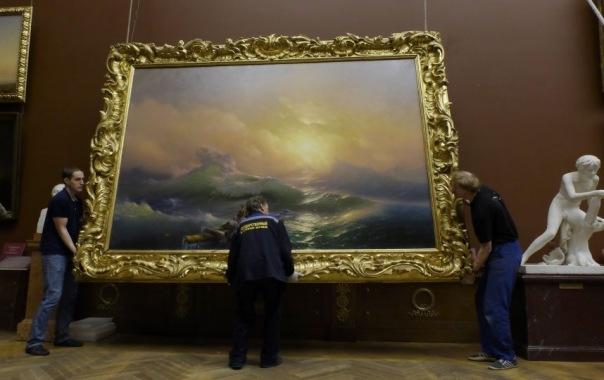 Картины Айвазовского из Русского музея отправили в Третьяковскую галерею