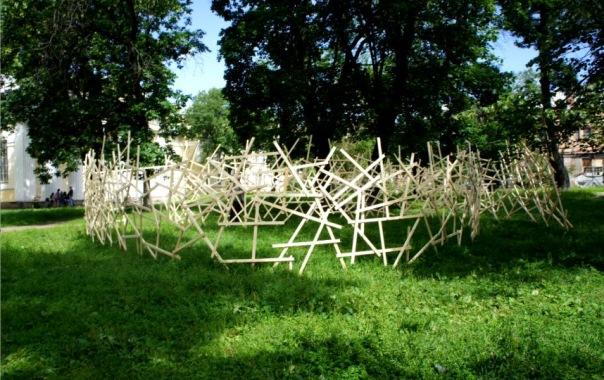 В саду Академии художеств в Петербурге появилось облако желаний
