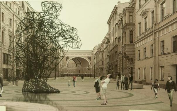 В Петербурге выбрали проект благоустройства пешеходной части Большой Морской улицы