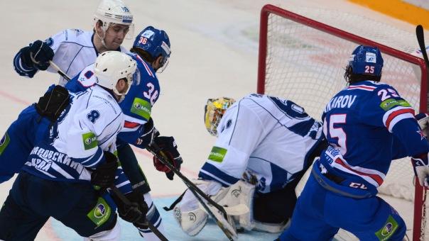 СКА разгромил Амур в матче КХЛ