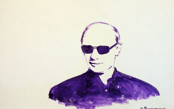 Петербургская художница нарисовала грудью портрет Путина и отправила в Кремль
