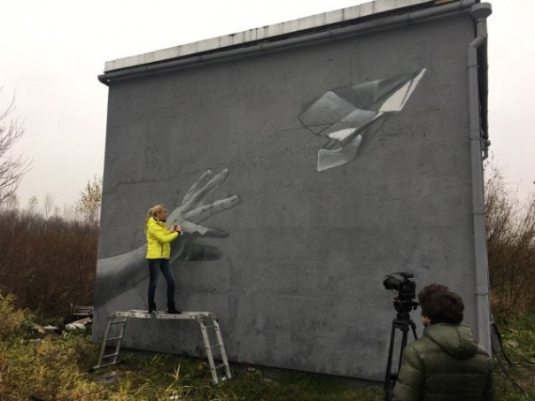 Рядом с Пулково появилось граффити в память о жертвах рейса 9268