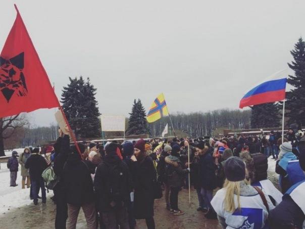 Петербуржцы вышли на митинг против роста тарифов на проезд