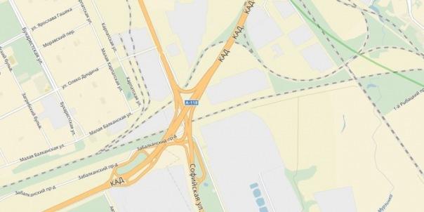 В районе развязки КАД с Софийской в Петербурге на всю зиму ограничат скорость