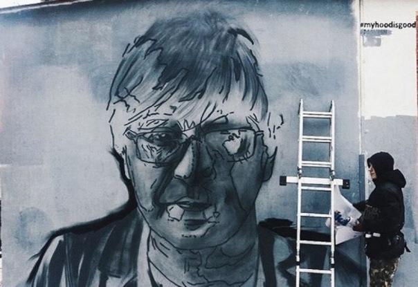 В Петербурге появилось граффити с портретом Юрия Шевчука